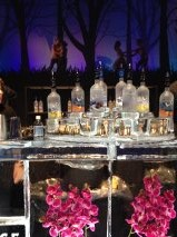 The Ice Bar (bar of ice) with real dancers in the background
